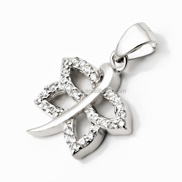 Silver Jewelry Pave Clear CZ Dragonfly Pendant Necklace Sterling Silver 18 inch