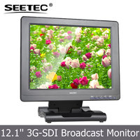 12.1 inch 3G SDI HDMI Component input high definition lcd monitor with Tally Indicator Light BNC to RCA Connector