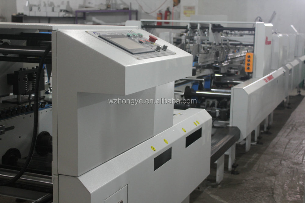 ZH-1000BFST Automatic Pizza Box making 4&6 Corner type Folder Gluer Machine
