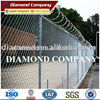 chain link fence with razor wire , Airport fence, High security fence