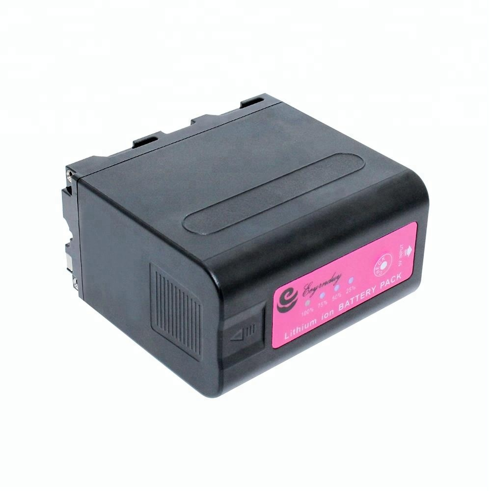 Real capacity 6600mAh Camcorder digital battery NP-F980 for Sony NP-F970D NP-F980 NP-F980D