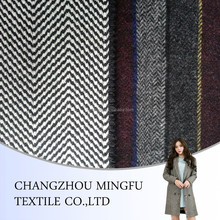 100% fiber merino wool blend woven fabric wholesale woolen fabric for coats