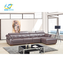 sofa moderno, corner sofa modern, leather sofa with adjustable headrest