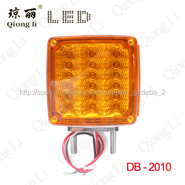 39 pieces LED PC lens chrome plate best price two sides amber and red factory led head lamp
