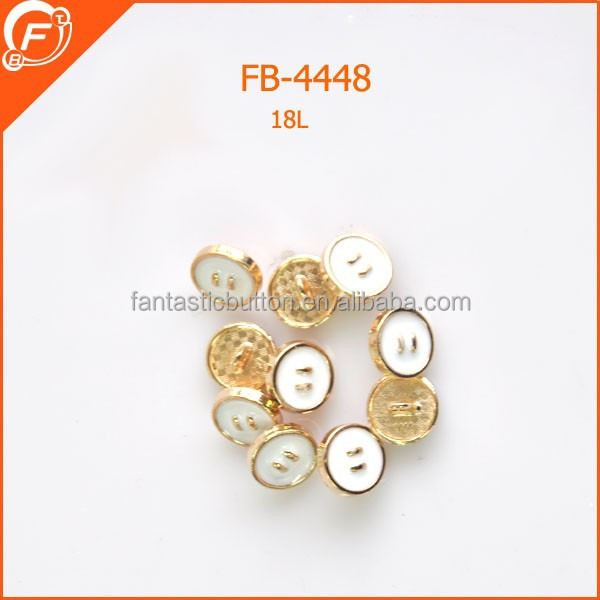 metal gold oil enamel button with metal tape for shirt decoration