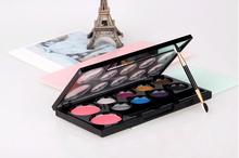 Manufactural directly customlized high quality 10 colorx eyeshadow makeup palette good for beauty makeup