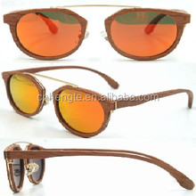 High Quality Sunglasses Wood bamboo Colorful Mirrored Eyeglasses