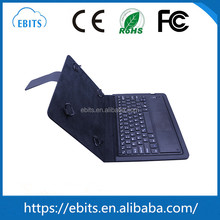 Flexible soft leather stand case cover folding wireless bluetooth tablet keyboard for 9-10 inch tablet