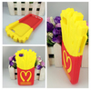 Chips cell phone case French fries 3D cute cartoon mobile phone silicone case For iPhone4/4s/5/5s/6/6 plus Factory Wholesale
