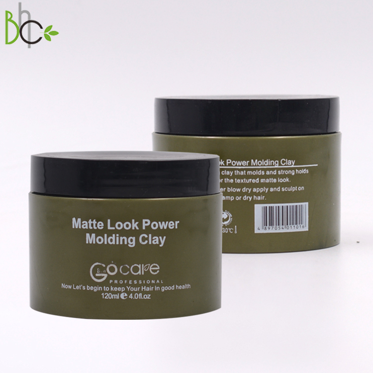 oem private label men hair styling products wax pomade paste organic power molding  Intensive matt hair clay