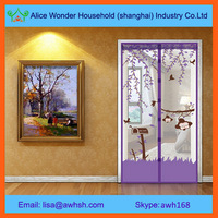 Magnetic mosquito net door curtain for wooden door