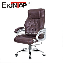 Deluxe High Back Brown Leather Executive Office Chair A837