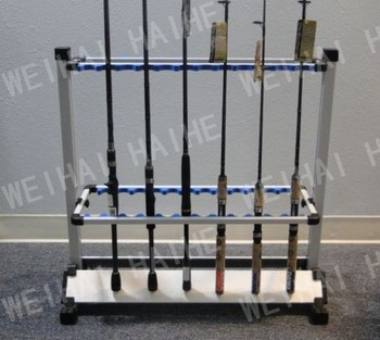 max hold 24 rods aluminium alloy fishing rod rack