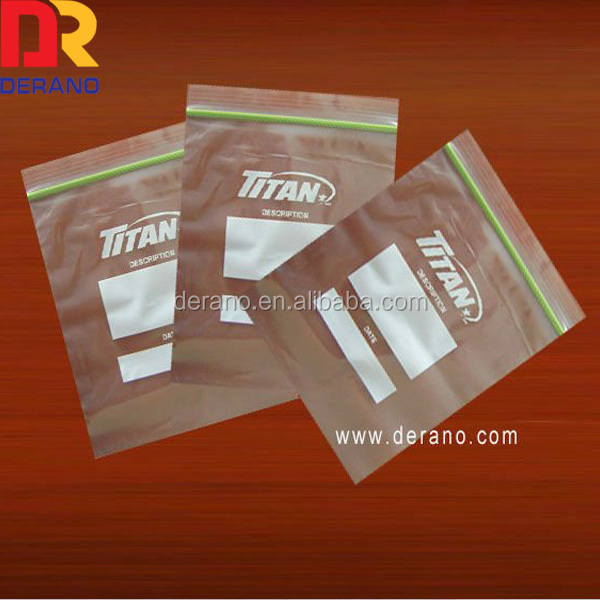 Alibaba china custom printed resealable ldpe double zipper bag