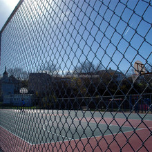 Free shipping Basketball Court Fence Chain Link Fence / cheap discount Ppowder coated 9 gauge woven cheap chain link fence