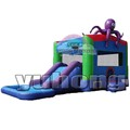 inflatable bouncy castle playground octopus inflatable castle slide