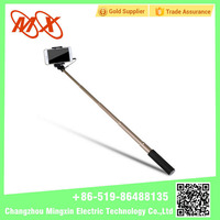 Portable Foldable Extendable Wireless Monopod Handheld Aluminum Selfie Stick with Remote Shutter Integrated