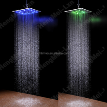 rainshower led color changing 400 mm ceiling shower head