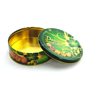 cookies tin can with airtight lid/ Food Grade cookies tin box