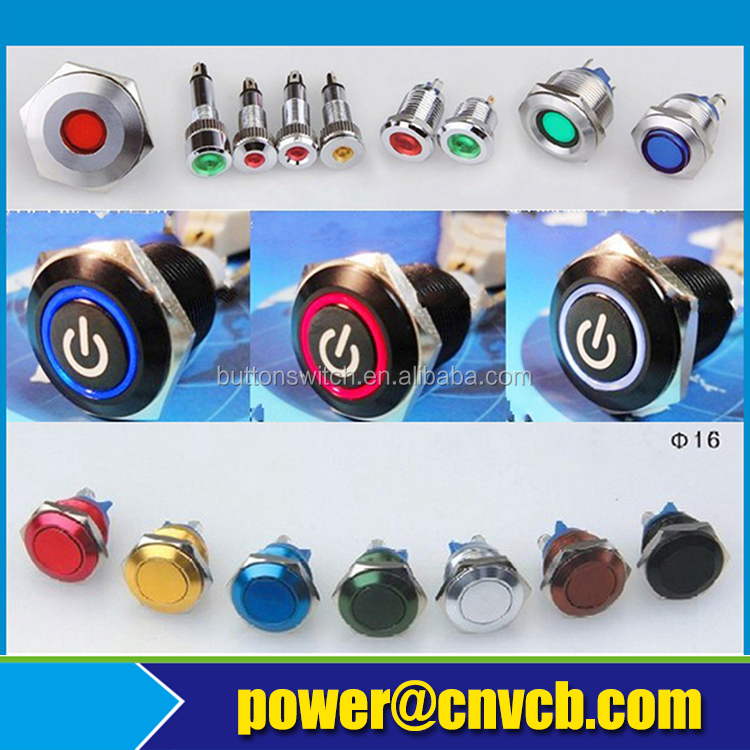 BB134 long handle contact block momentary push button switch maintained selector switch