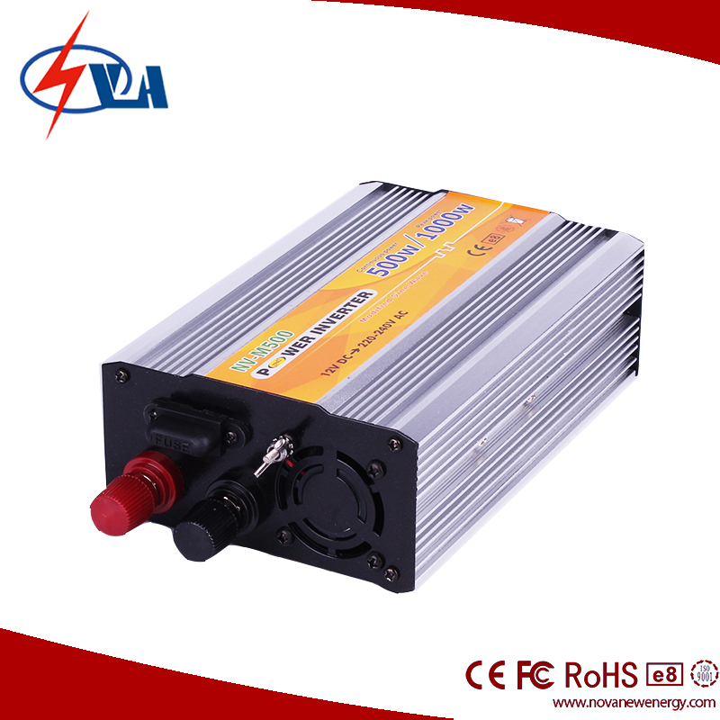 Intelligent 12v /24v DC to AC Car Power Inverter 500W modified sine wave inverter with USB port
