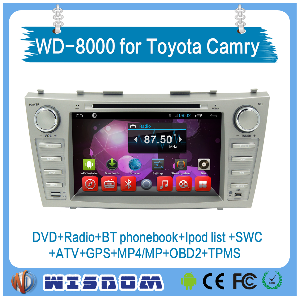 2016 factory price toyota camry touch screen car dvd player android car pc with gps tracker support bluetooth wifi 3g internet