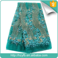 Excellent quality embroidered laces for nigeria wholesale indian beaded french lace fancy bridal lace fabrics