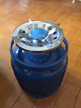Empty Gas Steel Cylinder with Camping Valve Portable Burner Parts