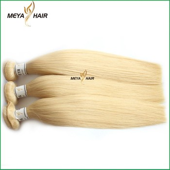 2017 trending products light-haired pure hair, easy to dye silky straight hair weft for building a slavic blond