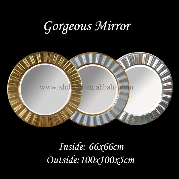 Elegance Vision Antique Gold Starburst Mirror customized color mayfair mirror