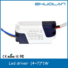 constant current led driver ac to dc 4w~7w 300ma noon dimmable led power supply