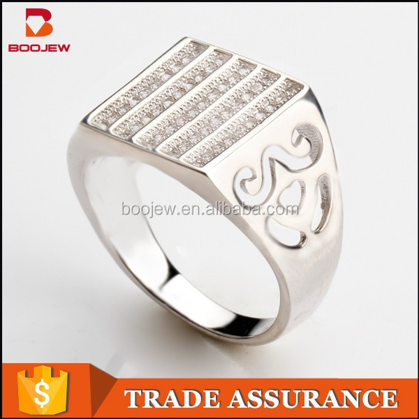 Guangzhou popular Bali cz 925 sterling Silver Poison Ring