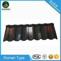 Professional Roman sand coated metal roofing sheet,factory direct roofing shingles with low price