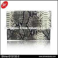 Snake Pattern Clutch Bag/Python Style Envelope Bag/Trendy Lady Crossbody Bag