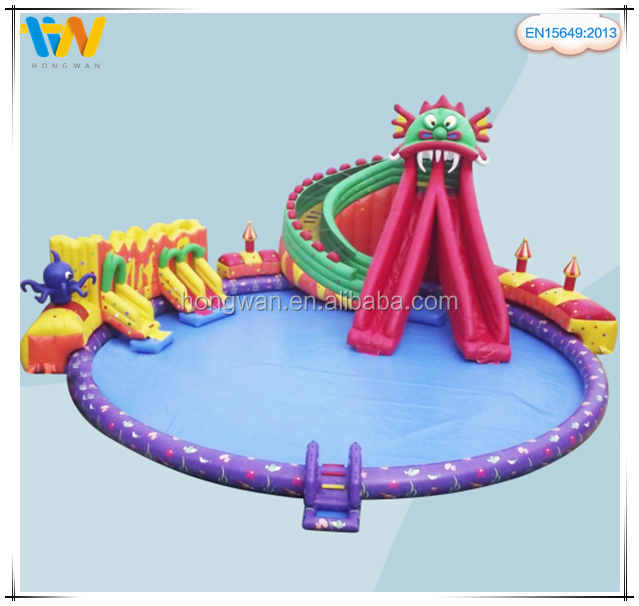 Hongwan outdoor inflatable commercial aqua water park