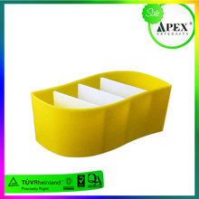 Yellow Acrylic Office Supplies Container