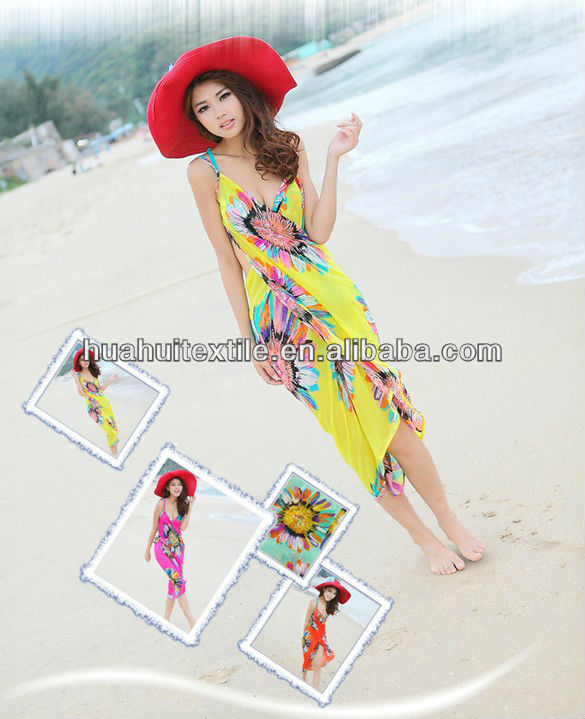 2014hot!!!!!Wholesale Simple condole belt beach dress