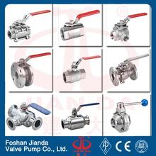 stainless steel 4 inch ball valve 3pc nitric acid manual