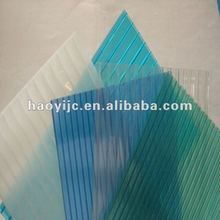 weather proof 50 miron uv protection polycarbonate hollow sheet