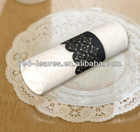 Western style wedding decoration&table decoration handmade paper napkin ring make decorative napkin rings for dinner ware