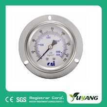322-321oil filled Bourdon tube pressure gauge for RO system