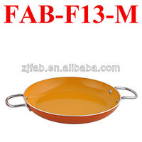 Deep Green Non-stick Aluminum Flat Frying Pan