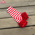 Kids Red Striped Icing Ruffle Pants Soft 100% Cotton Baby Ruffle Christmas Icing Pants