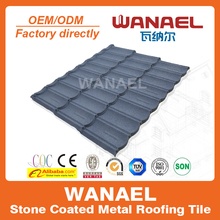 Bond Wanael stone coated metal steel shingle roof tile/install tile roof/insulated roof price