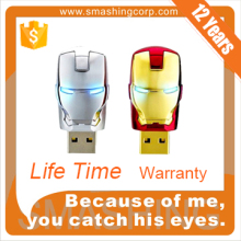 High quality fashion USB memory stick iron man 4gb 8gb 16gb 64gb 512mb 32GB usb flash drive