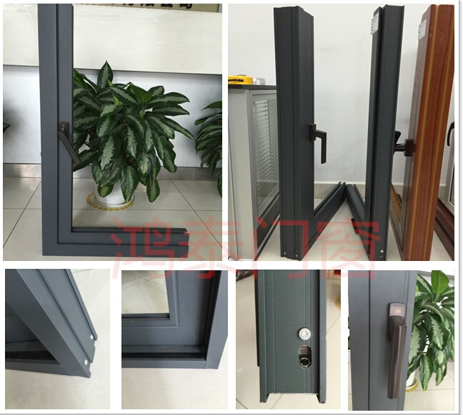 European Style Double Glazed Aluminum Sliding Windows