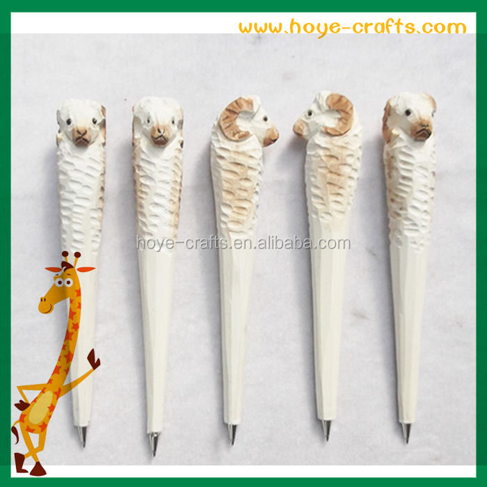 Novelty Wood animal Shape carving pen