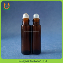 10ml amber brown roll on glass bottle