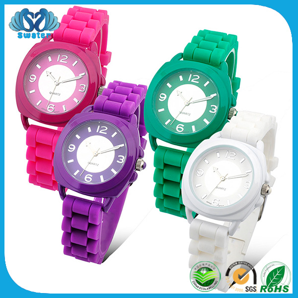 New Year Gift 2016 Silicone Rubber Watch Strap
