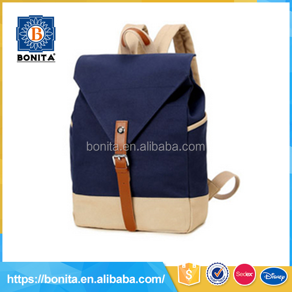 Simple design children young people vintage outdoor rucksack latest school bags for girls